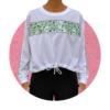 Cropped Net Sweater
