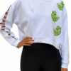 Cropped Quilted Fish Top
