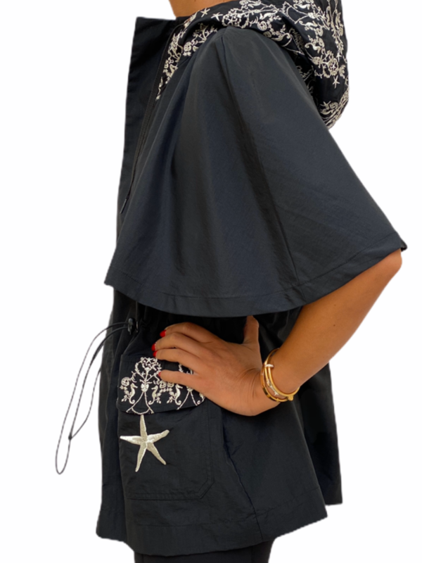 Embroidered Royal Cape -