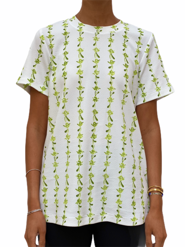Green Floral String T-shirt