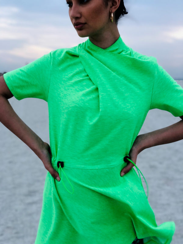 NEON GREEN LADY TOP