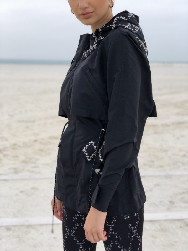 Royal Embroidered Parka