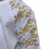 Royal Embroidery Quilted Sweater