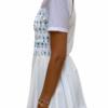 White Shirring Top